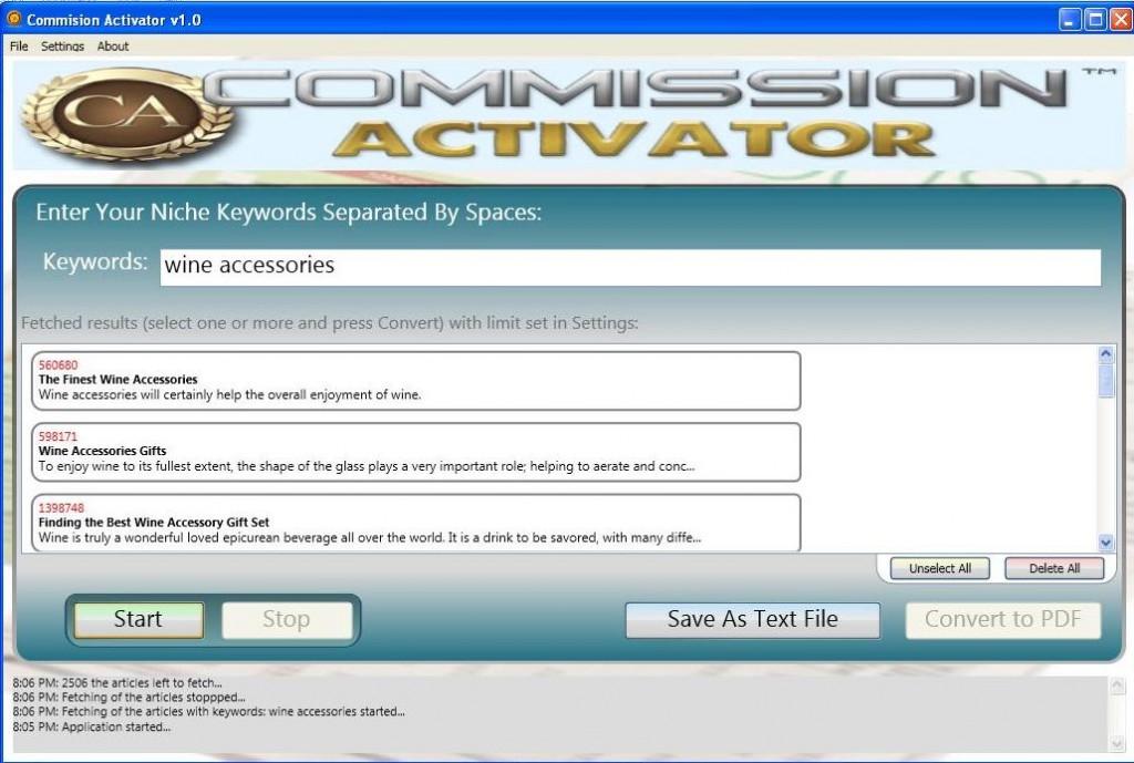 commission autopilot