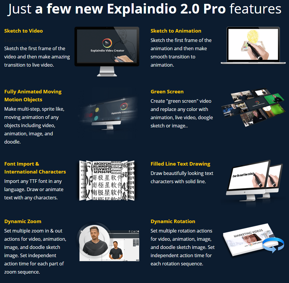 explaindio 2.0 pro features