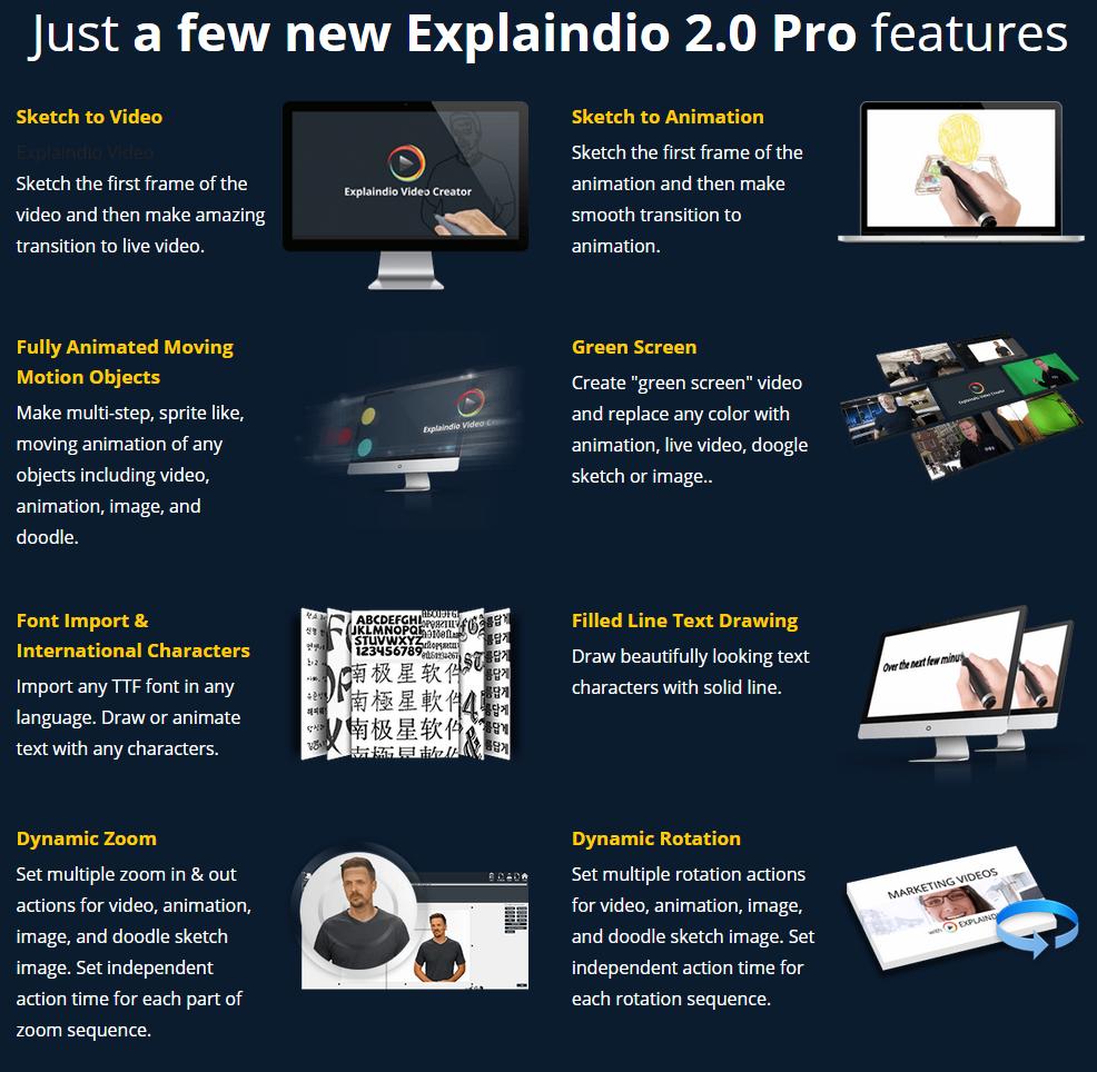 explaindio 2.0 pro features