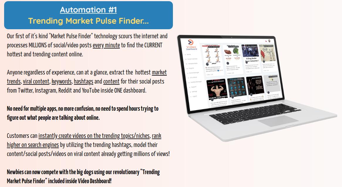 VideoDashboard Automation #! - Trending Market Pulse Finder